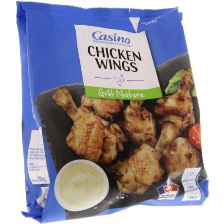 Chicken wings - Manchons de poulet  marinés et rôtis- Goût nature 250g CASINO 250g CASINO