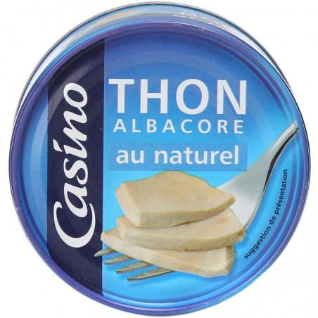 Thon albacore au naturel 140g CASINO