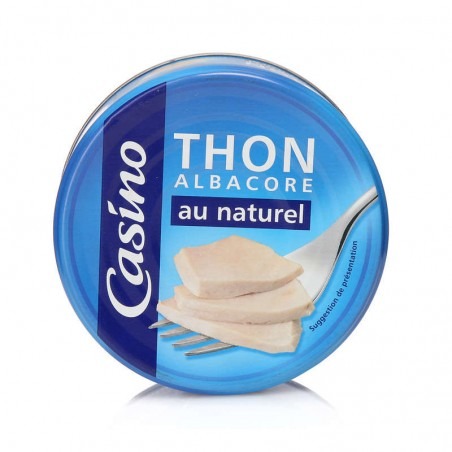 Thon albacore au naturel 186g CASINO