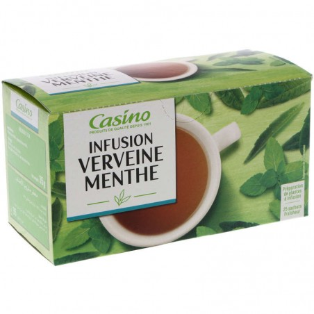 Infusion Verveine Menthe 25 sachets 35g CASINO