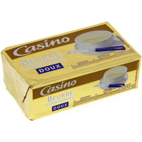 Beurre traditionnel doux 250g CASINO