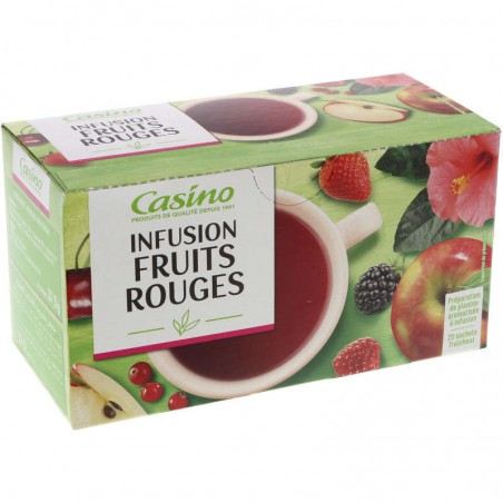 Infusion Fruits Rouges 37.5g CASINO