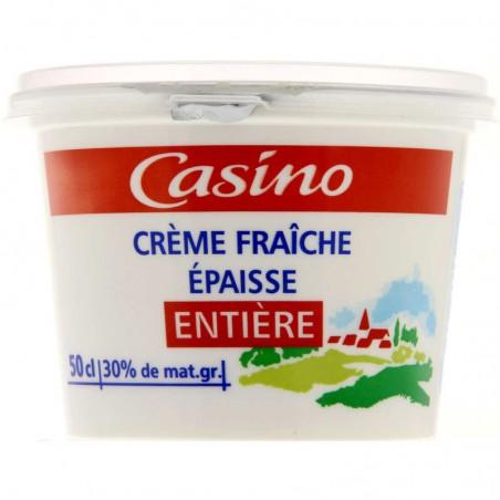 Crème fraîche épaisse entière - 30% de mat. gr 50cl CASINO