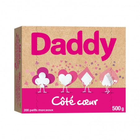 Sucre en morceaux blanc 500g DADDY