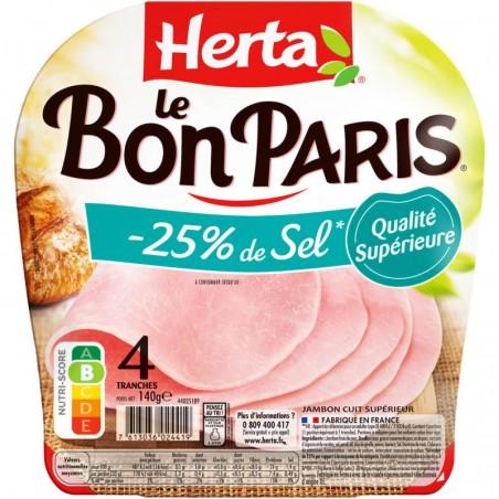 Le Bon Paris 4 tranches -25% de Sel 140g HERTA