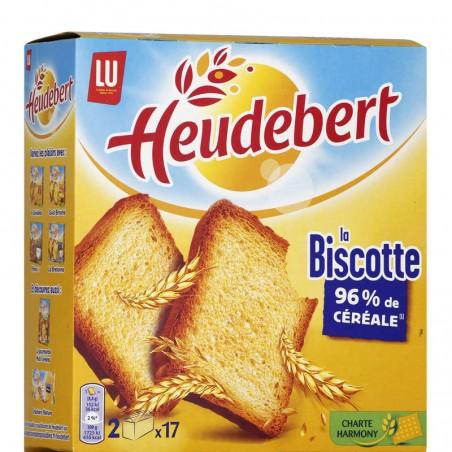 Biscottes natures x34 300g HEUDEBERT