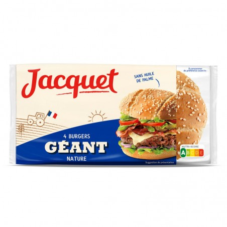 Géant Burger Nature 330g JACQUET