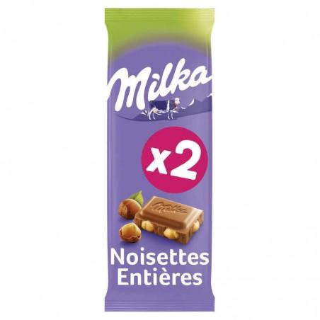 Chocolat lait noissette 2x100g MILKA