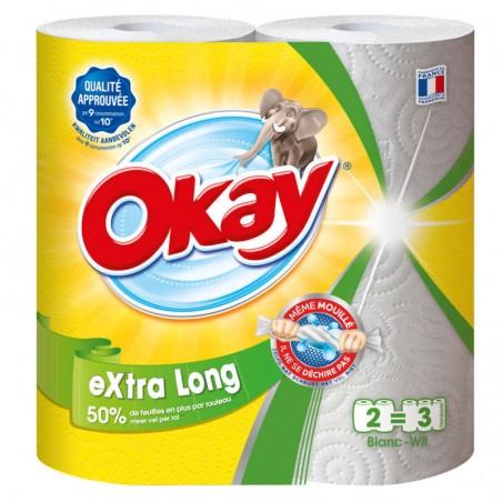 Essuie-tout Blanc XXL x2 OKAY