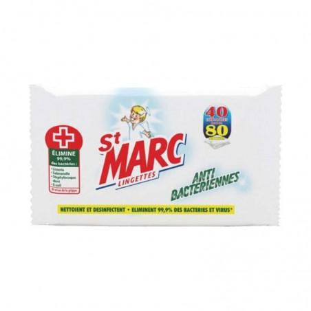 Lingettes antibactériennes x40 ST MARC