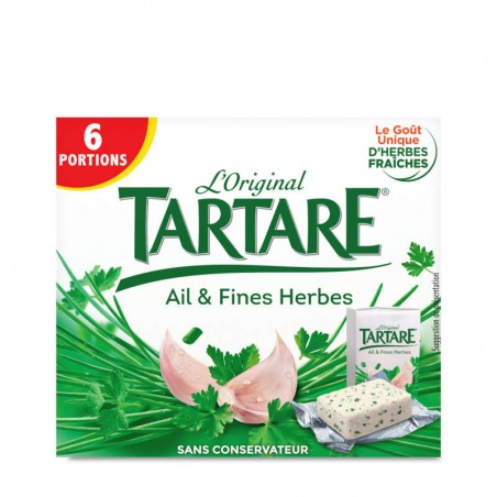 Fromage Ail et Fines herbes 6 portions 96g TARTARE