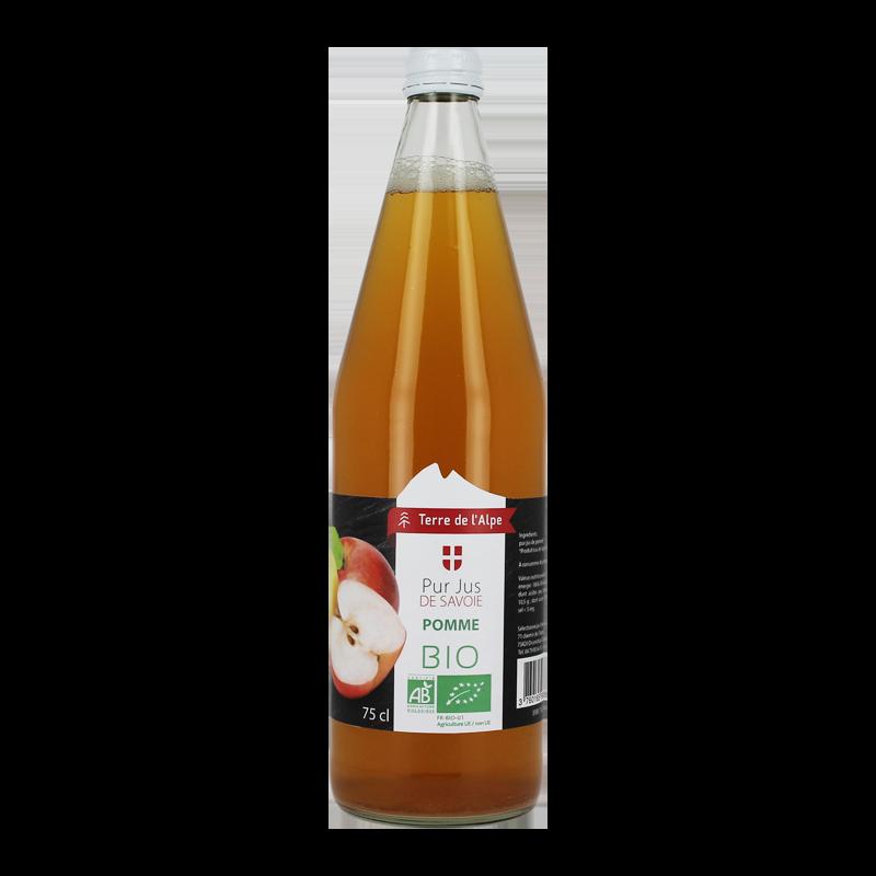 Pur Jus de Pomme de Savoie Bio La bouteille de 75cl TERRE DE L'ALPE