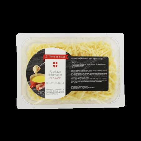 Préparation fondue 4 fromages Le sachet de 400g TERRE DE L'ALPE