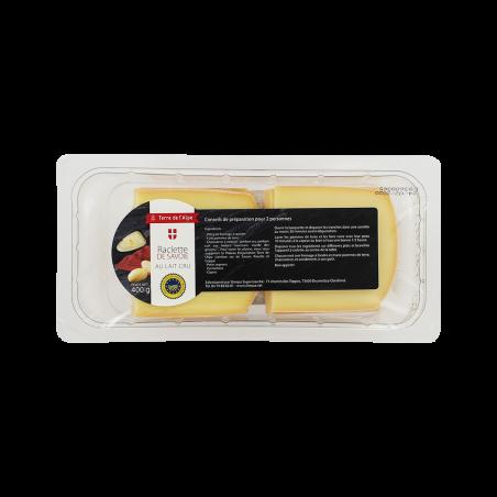 Raclette de Savoie au Lait cru tranchettes Le paquet de 400g TERRE DE L'ALPE
