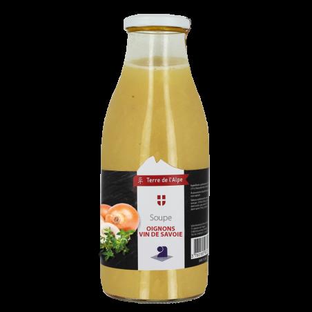 Soupe à l'oignon au vin de Savoie La bouteille de 970ml TERRE DE L'ALPE