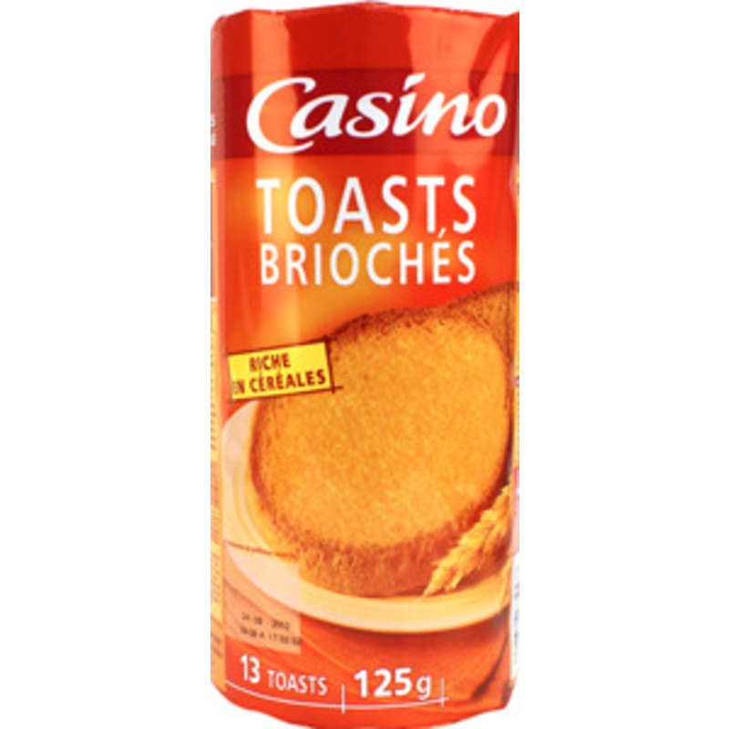 CASINO Toasts briochés 125g