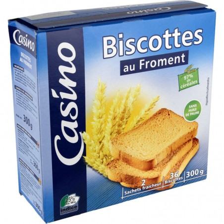 CASINO Biscottes au froment 300g