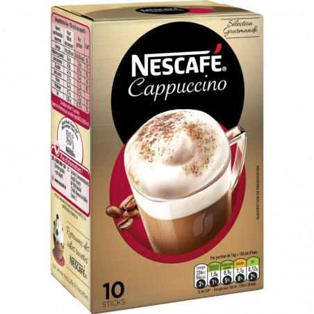 NESTLE Nescafé - Cappuccino - Café soluble - Sticks - 10 tasses 140g