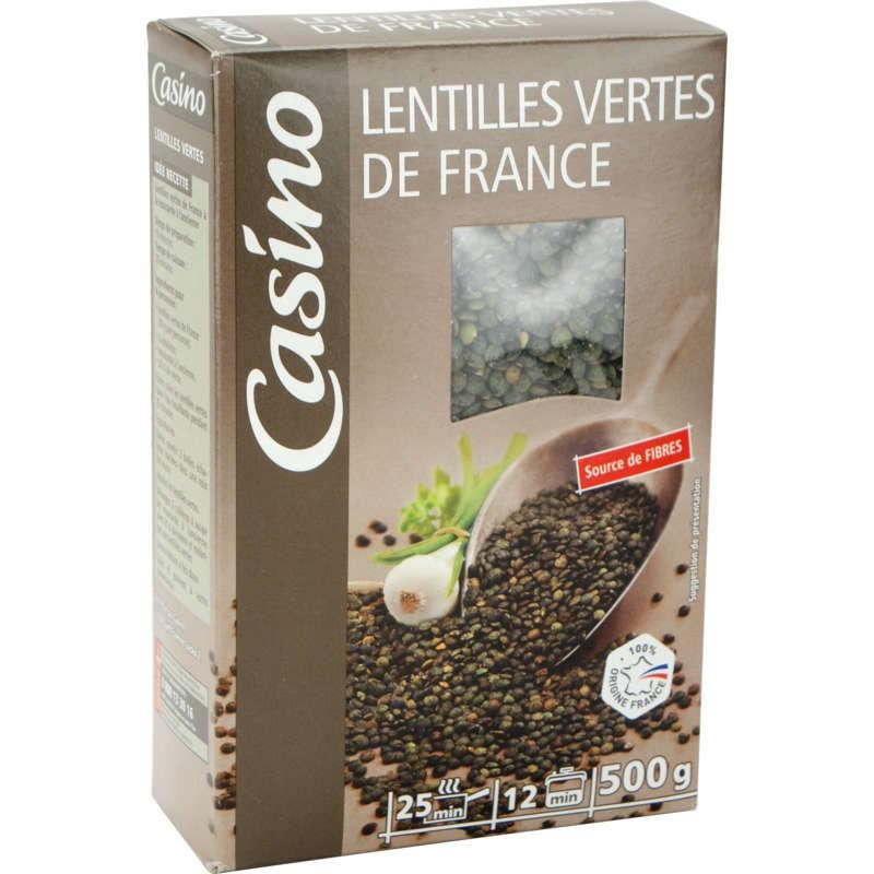 CASINO Lentilles vertes de France 500g