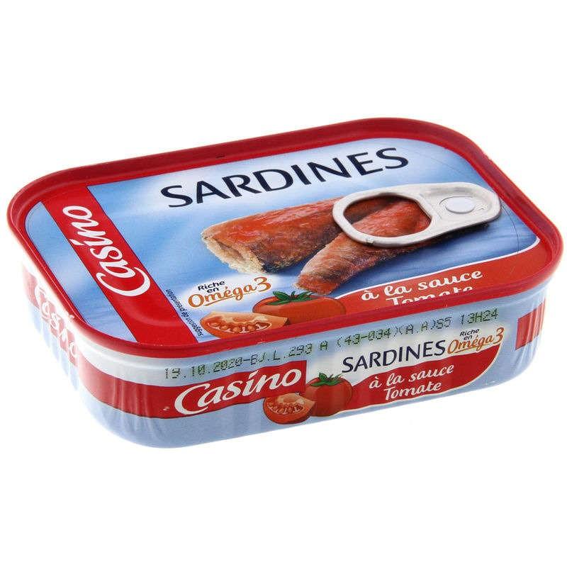 CASINO Sardines à la sauce tomate 135g