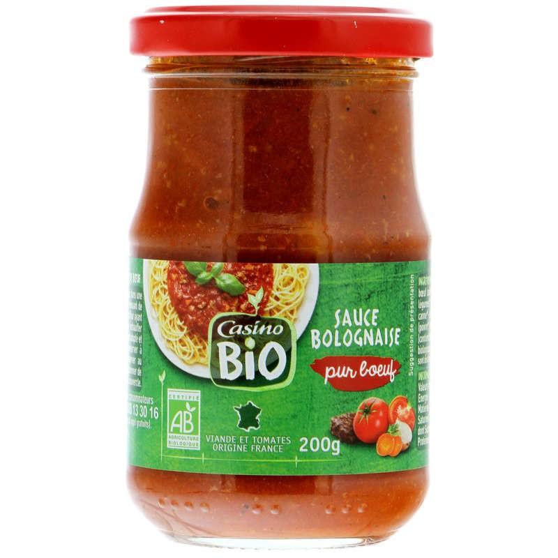CASINO BIO Sauce bolognaise Bio 200g