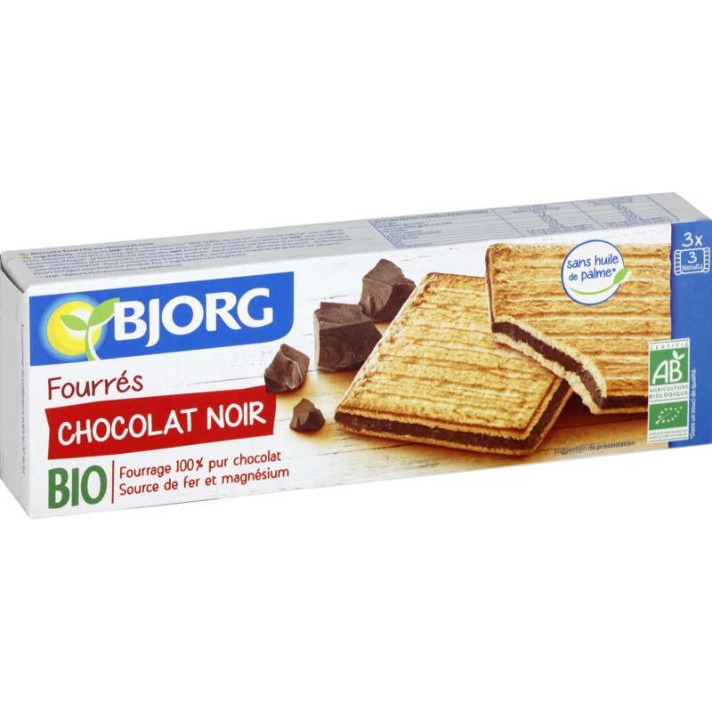 BJORG Goûters au chocolat noir Bio 225g