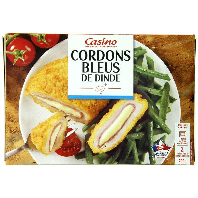 CASINO 2 Cordons bleus de dinde 200g