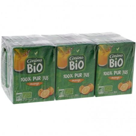 CASINO BIO 100% pur jus d'orange Bio 6x20cl