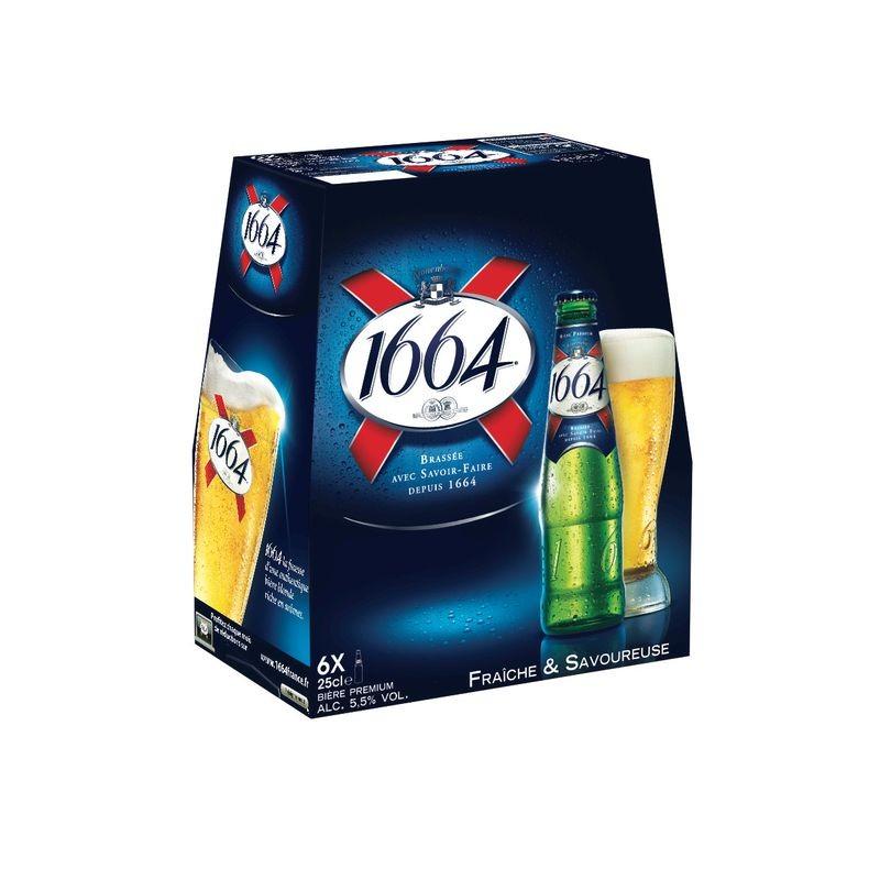 KRONENBOURG Bière blonde 1664 5.5° 6x25cl