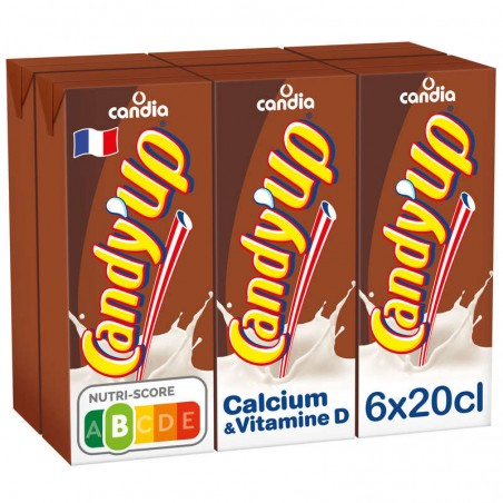 CANDIA CANDY'UP Boisson lactée chocolat 6x20cl