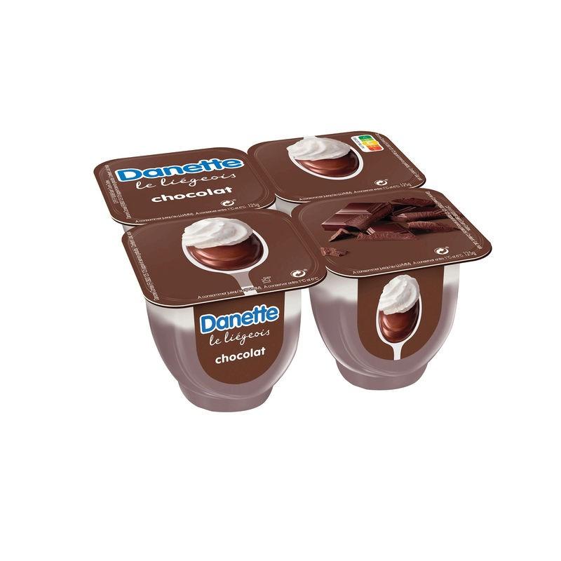 DANONE Danette Liegeois Chocolat 4x100g
