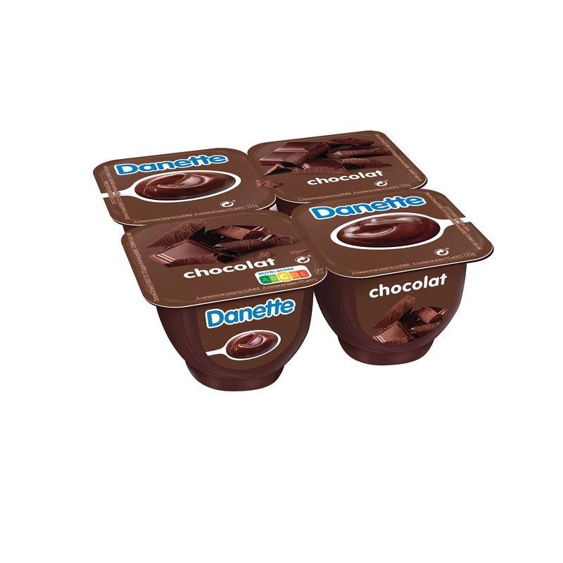 DANONE Crème dessert saveur Chocolat 4x125g