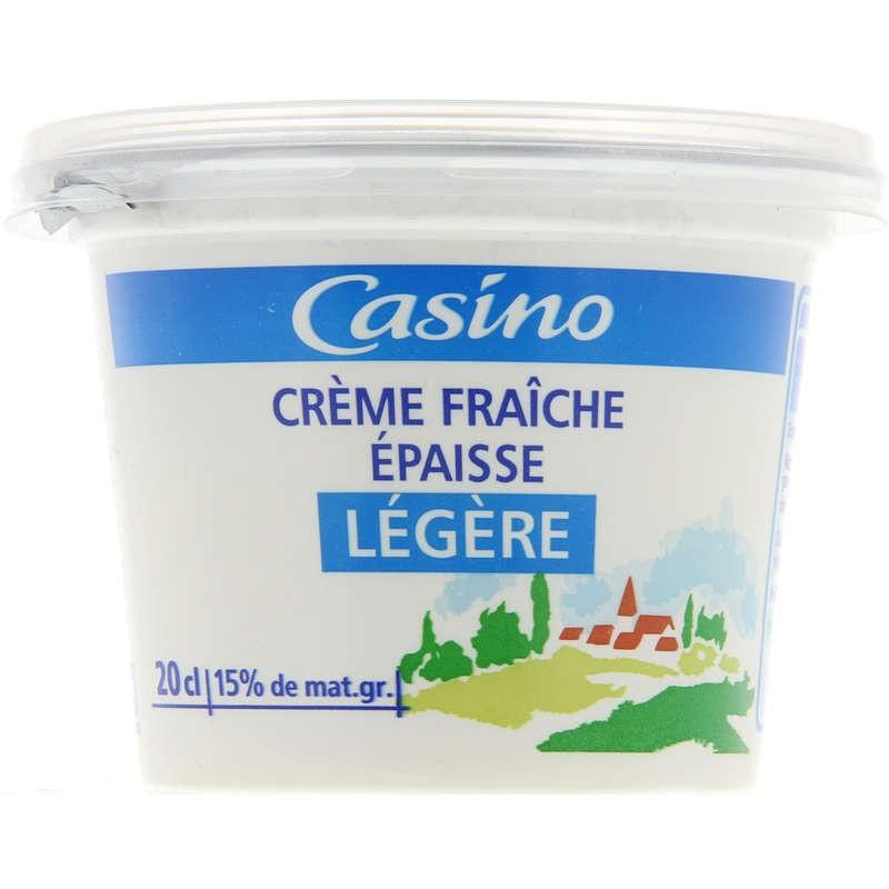 CASINO Crème fraîche épaisse légère 15% de mat. gr. 20cl