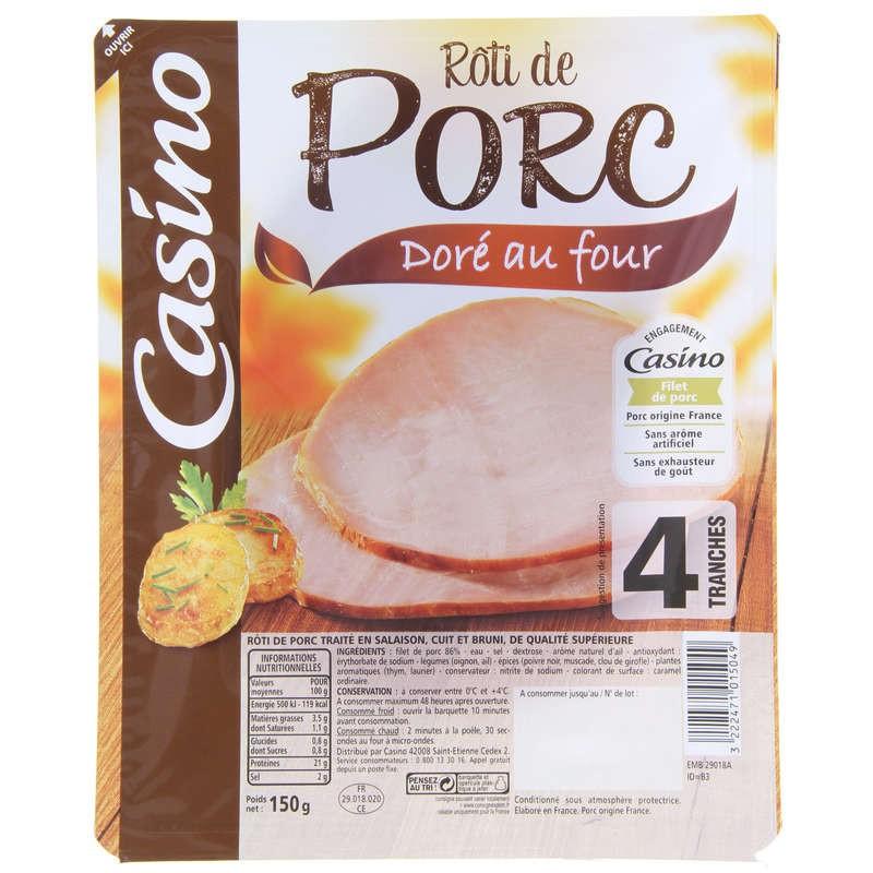 CASINO Rôti de porc Doré au Four 150g