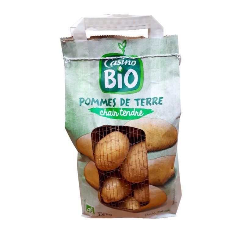 CASINO BIO Pommes de terre chair tendre Bio - FRANCE Cat1 1.5 Kg