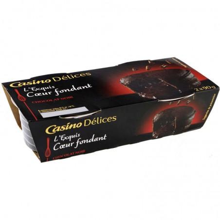 CASINO DÉLICES Coeur fondant - Au chocolat noir 2x90g