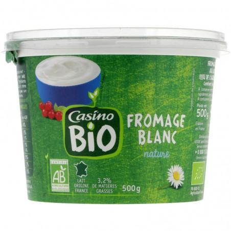 CASINO BIO Fromage frais BIO 3.2% de mat.gr.sur produit fini 500g