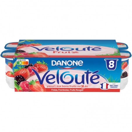 DANONE Velouté Fruix Fruits Rouges 8x125g