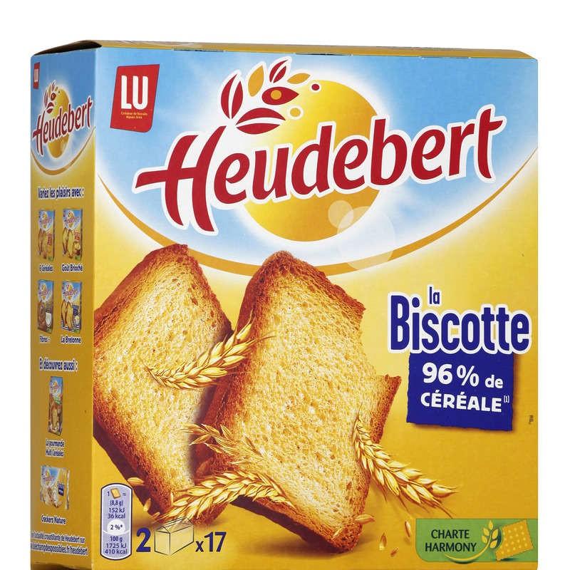 HEUDEBERT Biscottes natures x34 300g