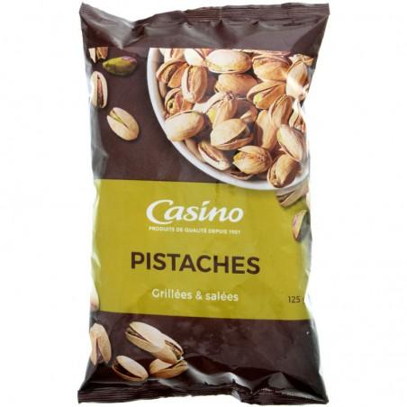 CASINO Pistaches grillées salées 125g