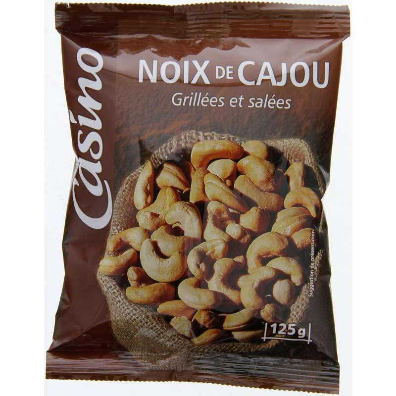 CASINO Noix de cajou grillées et salées 125g