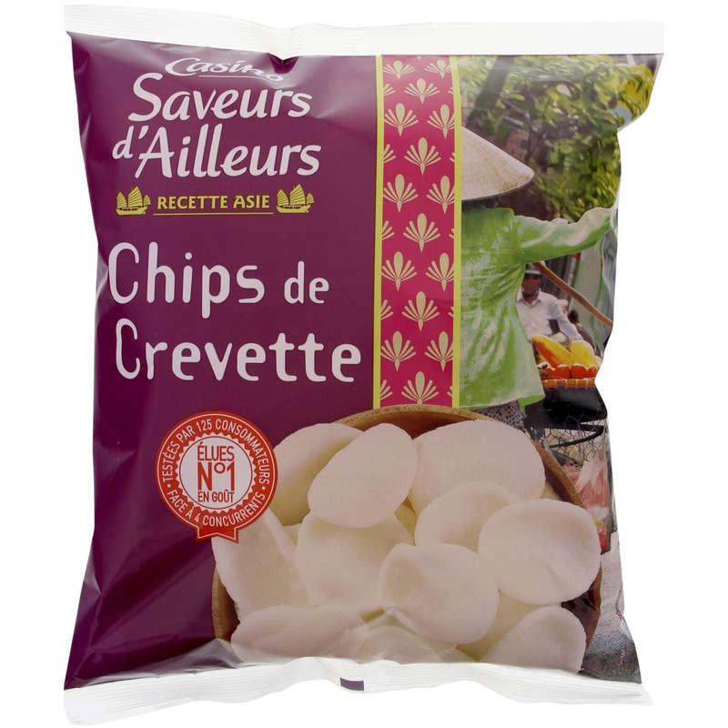 CASINO SAVEURS D'AILLEURS Chips de crevettes 75g