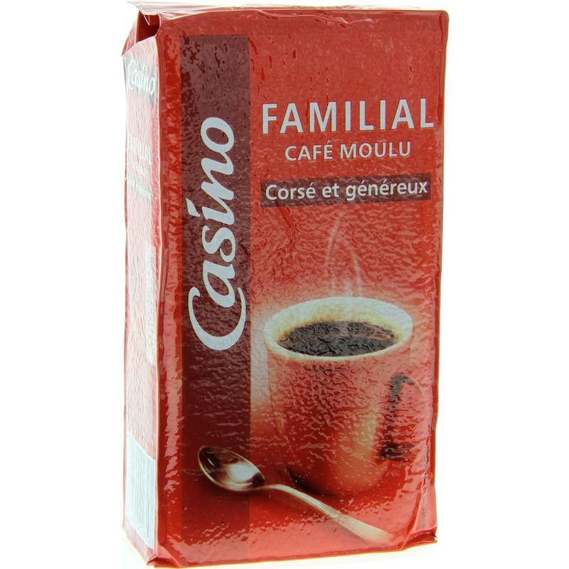 CASINO Familial - Corsé et généreux - Café moulu 250g