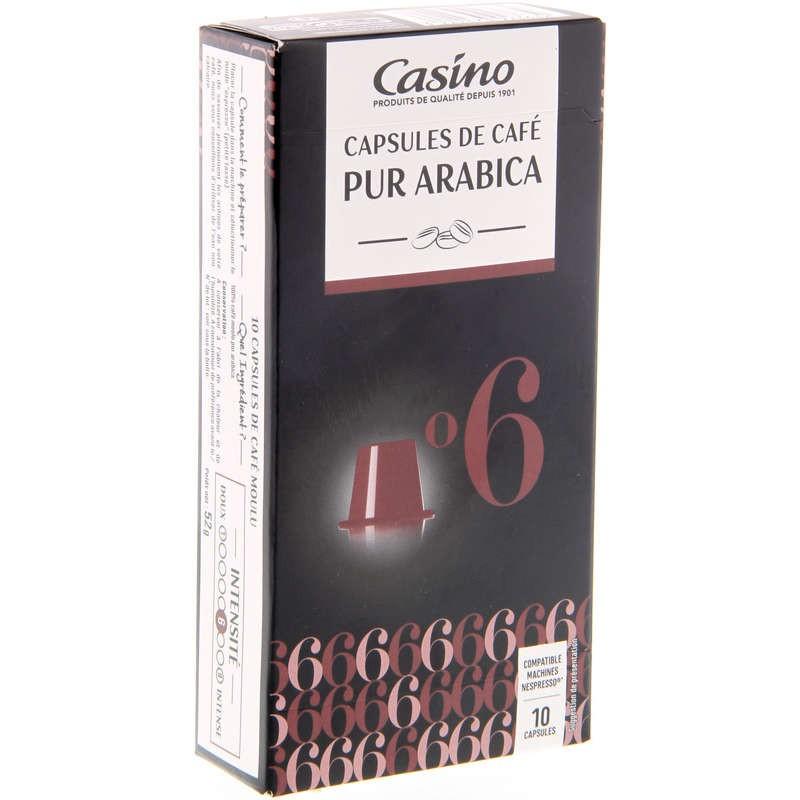 CASINO Casino capsules de café - Pur Arabica 52g