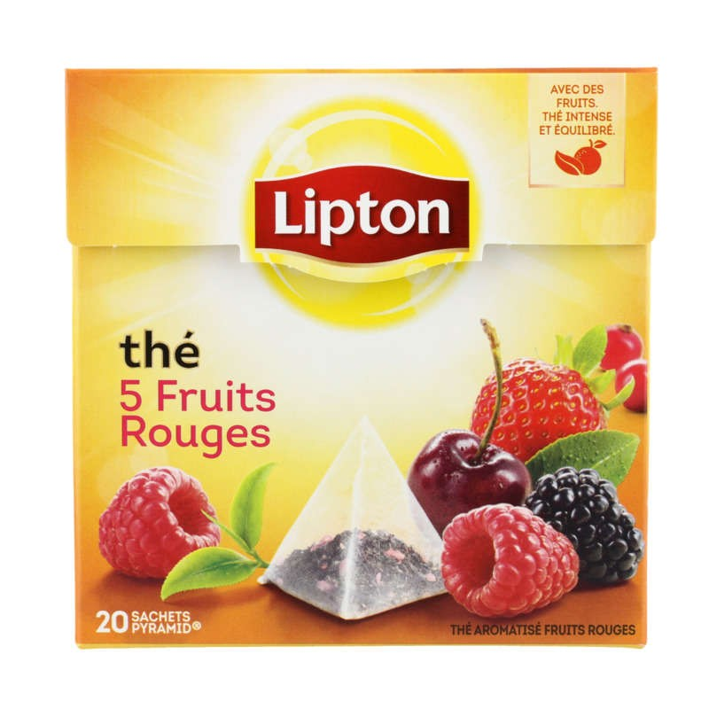 LIPTON Thé 5 fruits rouges 34g