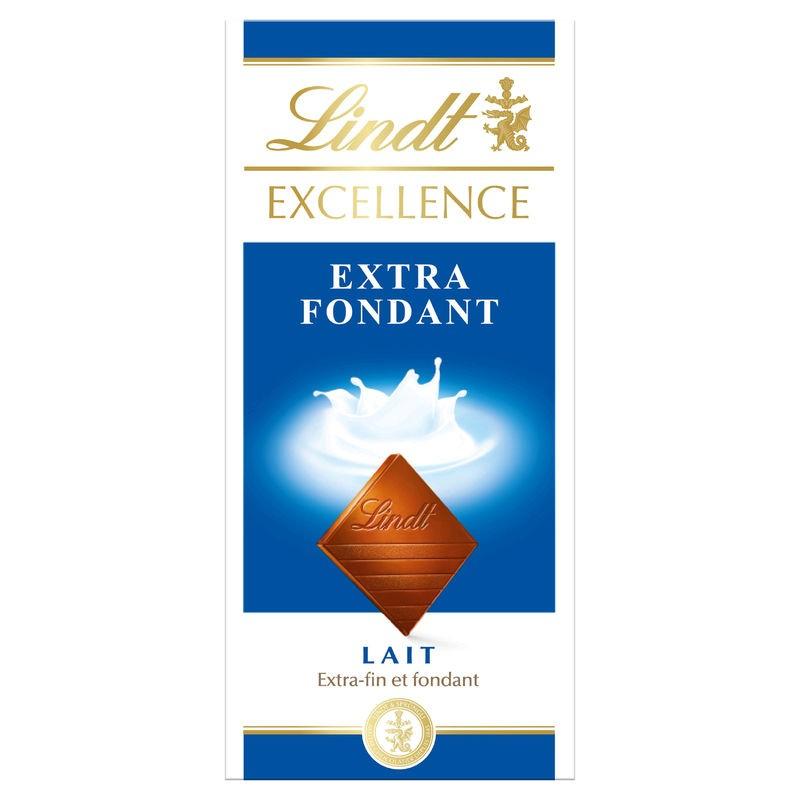LINDT Chocolat au lait extra fin et fondant 100g