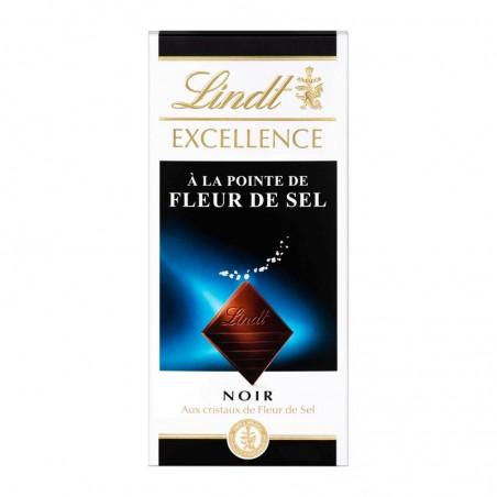 LINDT Chocolat noir aux cristaux de fleur de sel 100g