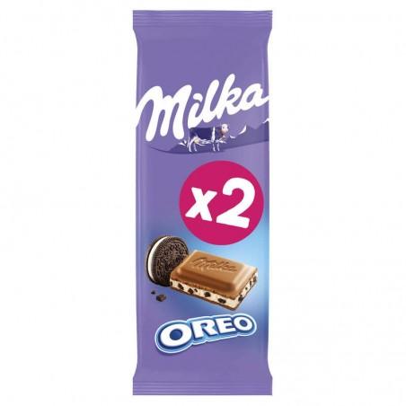 MILKA Chocolat aux morceaux d' Oréo 2x100g