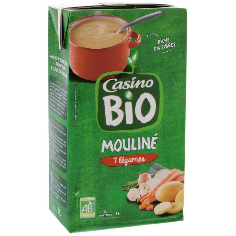 CASINO BIO Mouliné de legumes variés Bio 1L