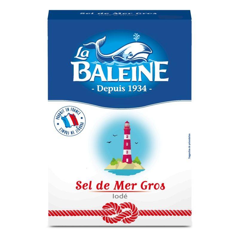 LA BALEINE Gros sel de mer iodé 1Kg